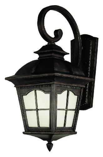 Antique Exterior Light Fixtures (Trans Globe Lighting PL-5420 BK 1-Light Coach Lantern, Antique Rust)