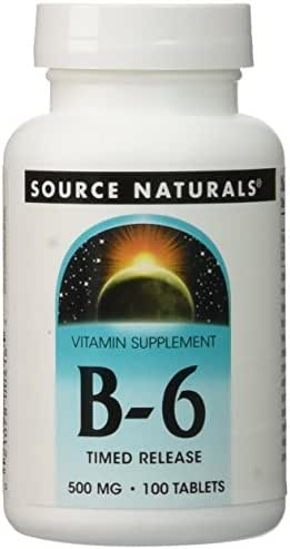 Source Naturals Vitamin B-6, 500 mg Immune System Support - 100 Time Release Tablets