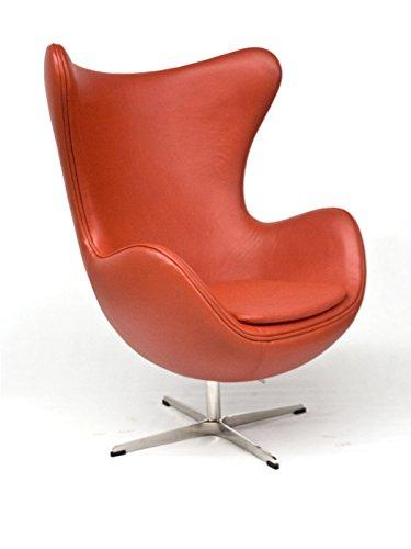 Amazonde Rote Möbel Sessel Egg Chair Leder Rot