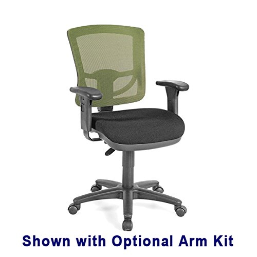 Comfort Sewing Chair with Green Mesh Back plus Arm Kit