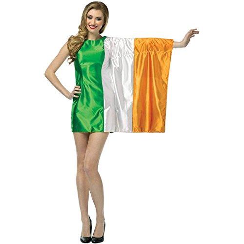 [Flag Dress-Ireland Costume - One Size - Dress Size 6-10] (Sexy Ice Princess Costumes)