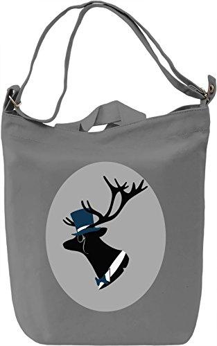 Smart deer Borsa Giornaliera Canvas Canvas Day Bag| 100% Premium Cotton Canvas| DTG Printing|
