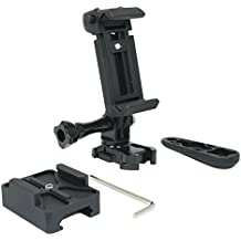 Action Mount - Picatinny Rail Mount + Locking Smartphone Mount for Video Recording While Hunting, or Target Practice. Includes Allen Wrench + Thumbscrew Wrench. (Picatinny Rail)