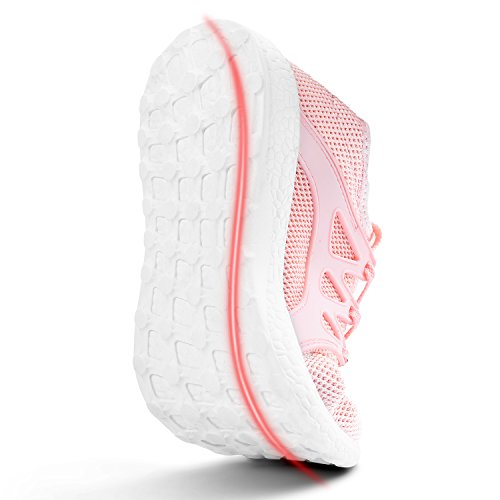 MARSVOVO Womens Sneakers Lightweight Casual Walking Shoes Gym Breathable Mesh Sports Shoes Pink