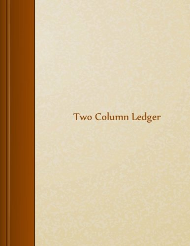 Two Column Ledger: 8.5″ X 11″, 105 pages