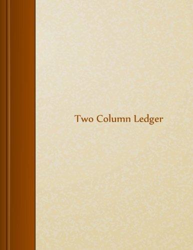 Two Column Ledger: 8.5″ X 11″, 105 pages