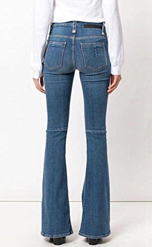 D'elefante Il Per Vita Alta Larga Blu Versione Moda Jeans Gamba Sottile Donne zampa Micro Wanyang Pantaloni Libero Tempo Retro Nove Coreana w0qRaf5Tcx