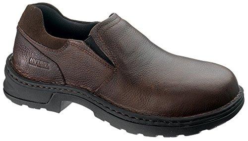 Hytest Men's Brown Comp Toe Opanka Slip-on (7.5 W)
