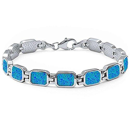 Buy blue fire opal bracelets for women