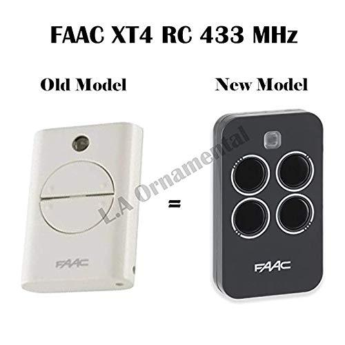 Rolling Code Transmitter - FAAC XT4 433 RC Gate remote control keyfob transmitter , 433.92Mhz rolling code keyfob, 787452