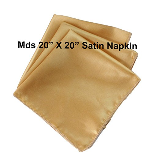 "MDS Pack of 50 Wedding 20""X 20"" Square Satin Table Napkin..."