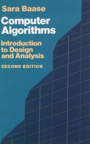 Computer Algorithms: Introduction to Design and Analysis (Addison-Wesley Series in Computer Science) by Sara Baase (1988-02-03)