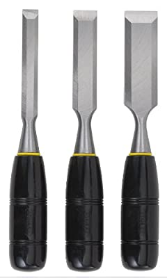 Stanley 16-150 150 Series Short Blade 3-Piece Wood Chisel Set