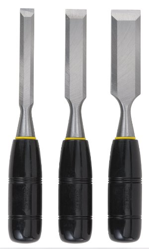 (Stanley 16-150 150 Series Short Blade 3-Piece Wood Chisel Set)
