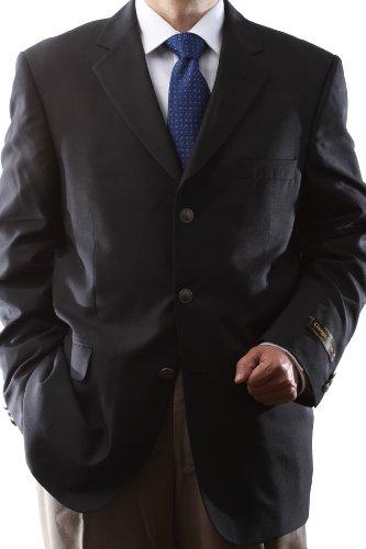 Men's Single Breasted 3 Button Black Blazer
