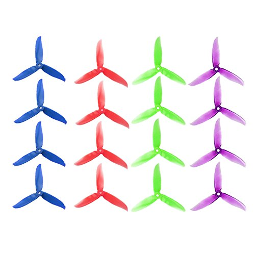 DALPROP 16pcs Cyclone T5046C 5046 3 Blades (5.0 x 4.6) CW CCW Propeller for FPV Racing Quadcopter Frame Kit (4sets, mix color)