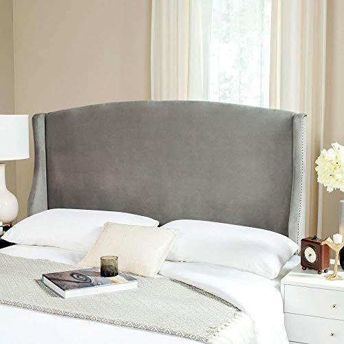 Safavieh Mercer Collection Austin Pewter Grey Winged Linen Headboard (Twin) (Winged Headboard)