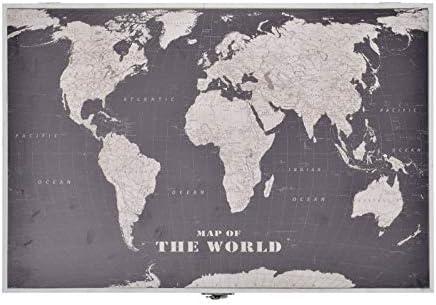 D,casa - Tapa de Contador Madera diseño mapamundo, Cuadro de luz, cubrecontador: Amazon.es: Hogar