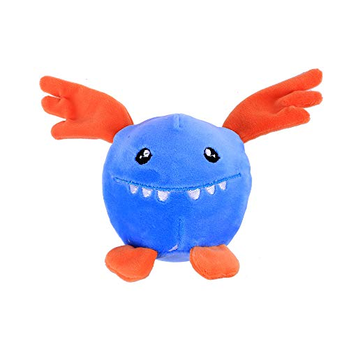 (Furry Blue Devil Foamed Stuffed Slow Rising Squeeze Keychain Stress Reliever Toy)