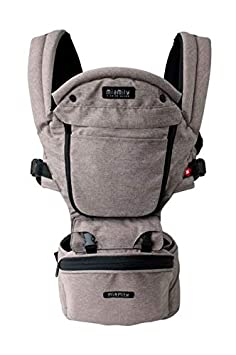 MiaMily Hipster Plus 3D Child Baby Carrier – Perfect 360 Backpack Alternative for Hiking with 9 Carrying Positions and Ergonomic Design with Hip Protection for Toddler or Infant Stone Grey