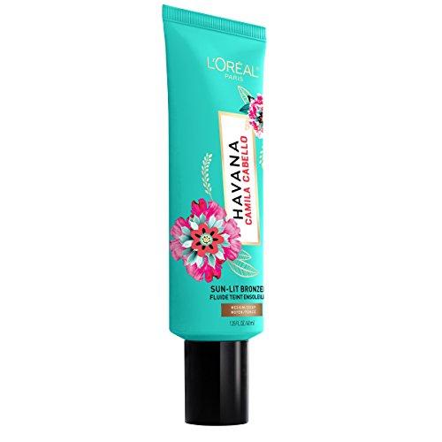 L'Oreal Paris Cosmetics X Camila Cabello Havana Sun-lit Liquid Bronzer, Medium-Deep, 1.35 Fluid Ounce