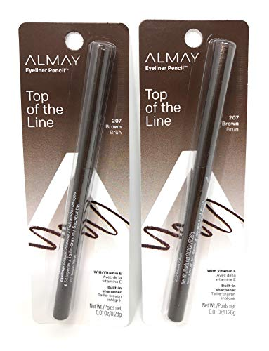 Almay Eyeliner Pencil - Top of the Line - 207 Brown - Pack of 2