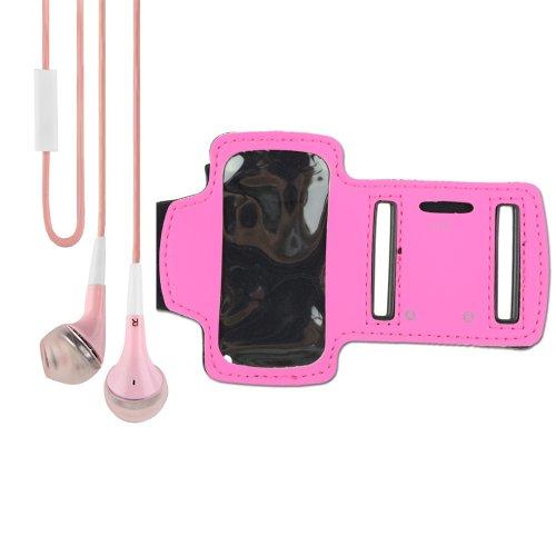 Ipod Nano Mic - Sport Armband for iPod nano 7th Generation (Rose) + VanGoddy Headphone with MIC , Pink
