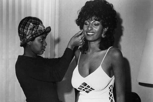 Pam Grier in Foxy Brown on set pose in curvaceous white dress with ...