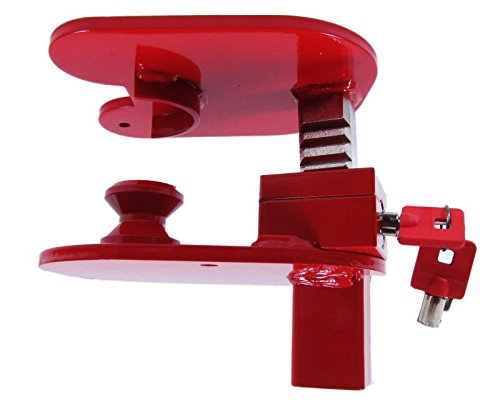 Trailer Hitch Lock for Heavy Equipment - Keyed Alike by The Equipment Lock Company