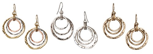 3 Circle Boho Antiqued Earrings | SPUNKYsoul Collection