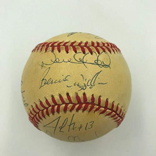1996 NY Yankees Team Signed World Series Baseball Derek Jeter Mariano Rivera - JSA Certified - Autographed ()