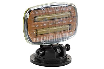 Larson Electronics Battery Powered LED Strobe Light, Adjustable Locking Magnetic Base, Clear White Lens