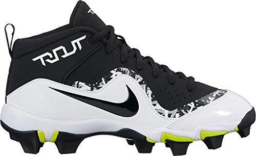 (Nike Kids' Force Trout 4 Keystone Baseball Cleats(Black/Black, 2.5 Little Kid M))