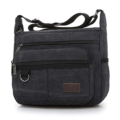 Size Green Vacation Men's Canvas Rxf Black Messenger color S Travel Leisure Bag Outdoor vvaxnWYz