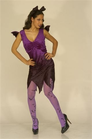 Ladies Bat Lady With Wings And Ears Costume Extra Large Uk 18-20 For Halloween