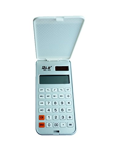 Fashion Clamshell Calculators, Simulate 4.7-inch Phone 12 Digits, Solar and Battery Dual Power, the Best Choice for Gift-giving (Silver)