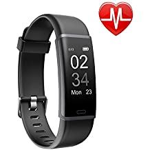 Letsfit Fitness Tracker HR, Activity Tracker with Heart Rate Monitor Watch, IP67 Waterproof Smart Bracelet with Step Counter Pedometer Watch for Kids Women Men