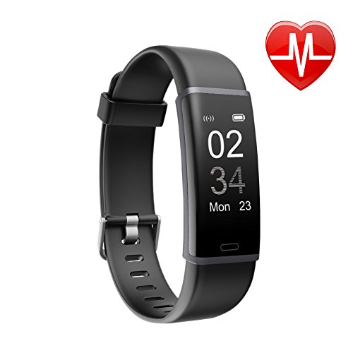 Letsfit Fitness Tracker HR, Activity Tracker with Heart Rate Monitor Watch, IP67 Waterproof Smart Band with Step Counter Pedometer Watch for Kids Women - Waterproof Monitors Rate Heart
