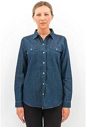 J Brand Women - Camisa perfecta larga de tela vaquera de algodón, mod. JB001994 Denim Blue XS: Amazon.es: Ropa y accesorios