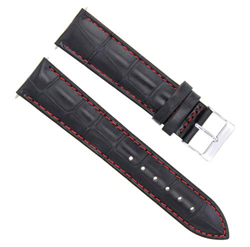 - 17-18-19-20-21-22-23-24MM Leather Watch Band Strap for Emporio Armani White STIT
