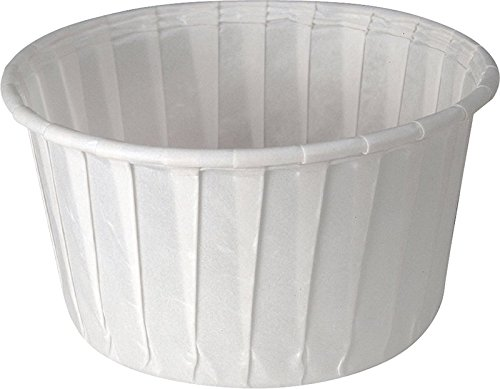 Solo 5.5 oz Treated Paper Souffle Portion Cups for Measuring, Medicine, Samples, Jello Shots (Pack of 250) by Sold Individually