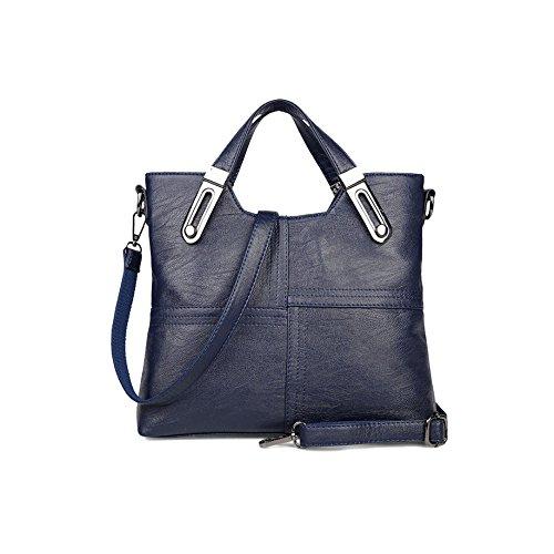 AJLBT Bolsos De Costura Bolsos Coreanos De Las Señoras Marea Hombro Messenger Bag Retro Bag Blue
