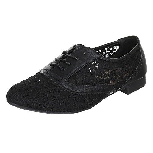 Womens Shoes, Size 102, Brogue Lace Shoes Black - Black