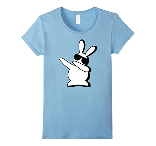 Women's Hip Hop Rabbit Bunny Easter T Shirts Large Baby Blue (Black And White Dress Up Ideas)