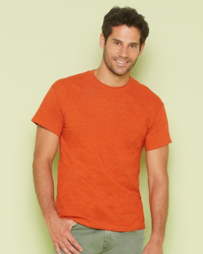Gildan T-Shirt aus schwerer Baumwolle, Farbe: Saphir, Größe: M, Graumeliert