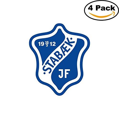 fan products of Stabaek JF Norway Soccer Football Club FC 4 Stickers Car Bumper Window Sticker Decal 4X4