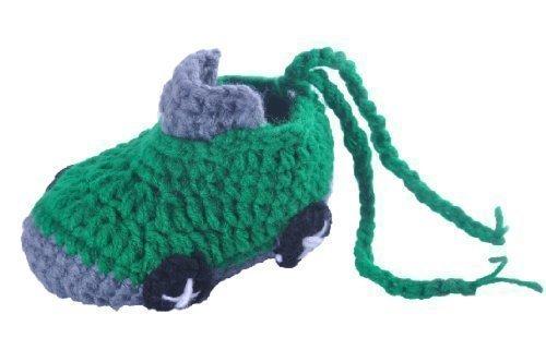 Bebé Ganchillo Zapatos Niño Coche Calcetines Handmade De Punto Pantuflas - Verde, 6-12 Meses: Amazon.es: Zapatos y complementos
