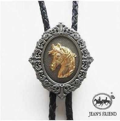 corbata de bolo cordón oeste caballo oro: Amazon.es: Hogar