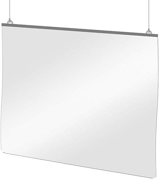 Mampara Protectora Colgante de Plástico PET Transparente para Mostrador, 125 x 100 cm, Grosor de 0.7 mm: Amazon.es: Bricolaje y herramientas