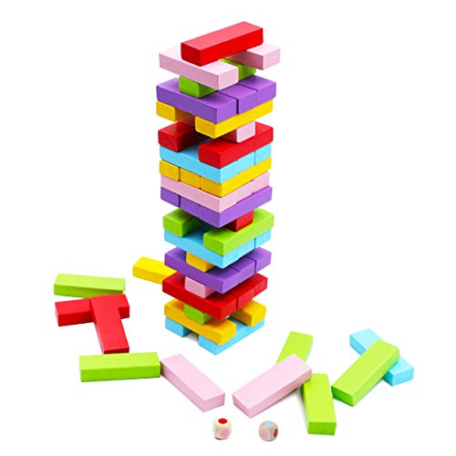 Building Blocks Game - Wooden Stacking Board Games for Kids